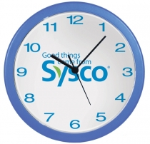"""10"""" Diameter Economy Wall Clock with Full Colour Imprint"""