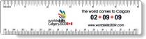 """.060 White Styrene Plastic Ruler / round corners (1.5"""" x 6.25"""")"""
