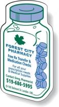 Stock Medicine Bottle Magnet (Screen-printed)