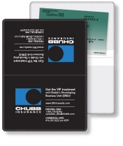 "Vinyl Wallet Liability & Registration holder, opened (4.5"" x 6"") closed (4."