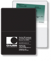 "Econo White Wallet, Liability & Registration, open (4.5"" x 6"") closed (4.5"""