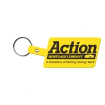 Slanted Rectangle Flexible Key Tag