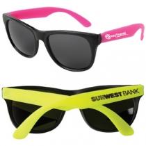 Neon Sunglasses w/ Black Frame