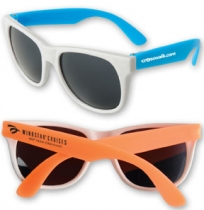 Neon Sunglasses w/ White Frame