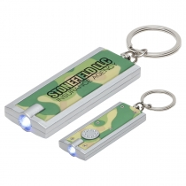 Simple Touch Camouflage LED Keychain