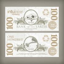 $100 Seed Paper Bills