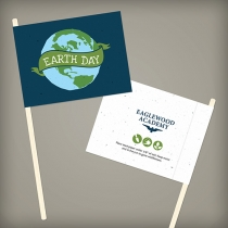 Earth Day Seed Paper Promotional Flags