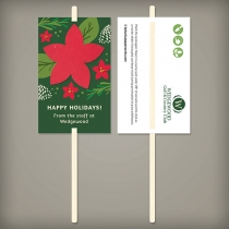 Holiday Flower Planting Sticks