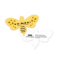 Save The Bees Plantable Bee Shape, 2-Sided