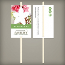 Wildflower Planting Sticks, 1-Sided