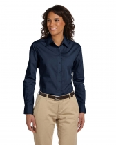 Harriton® Ladies' 3.1 Oz. Essential Poplin Dress Shirt