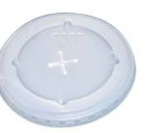 Frosted Straw Slot Lids for Plastic Cups (12 Oz.)