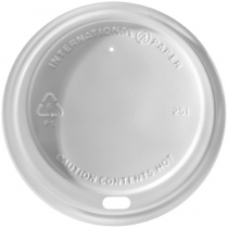 White Dome Lids for Paper Cups (10, 12, 16 & 20 Oz.)