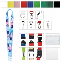 "Polyester 4 Color Process Lanyard (3/8""x19 5/8"")"