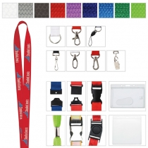 "Polyester Woven Lanyard (5/8""x19 5/8"")"