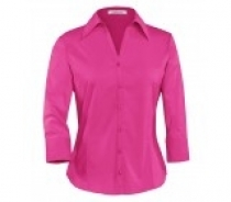 Coal Harbour® Ladies 3/4 Sleeve Easy Care Woven Shirt