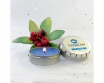 Holiday Candle in Large Push Tin