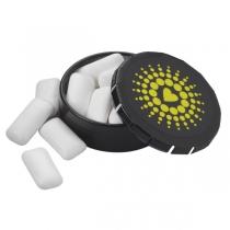 Small Round Gum Push Tin